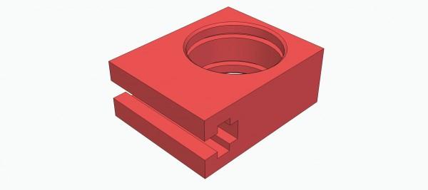 Lagerklotz für ein 6 mm Kugellager