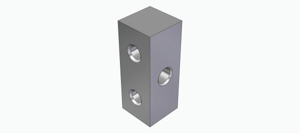 Lagerklotz für 4 mm Ø Welle