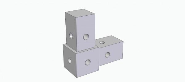 Rohrverbinder, L-Form 90°