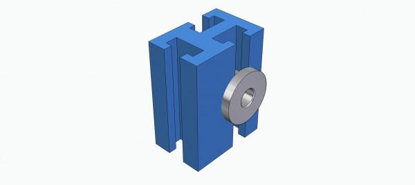 Lagerklotz horizontal für 4 mm Ø Welle
