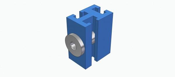 Lagerklotz vertikal für 4 mm Ø Welle